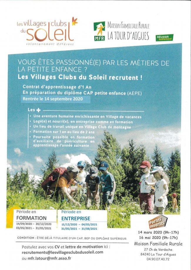 Les villages clubs du soleil recrutent