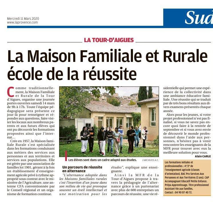 La Provence-mars 2020
